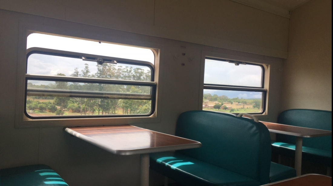 TAZARA train restaurant cabin