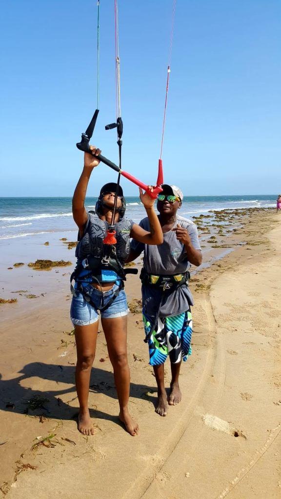 Control the bigger kitesurfing kite