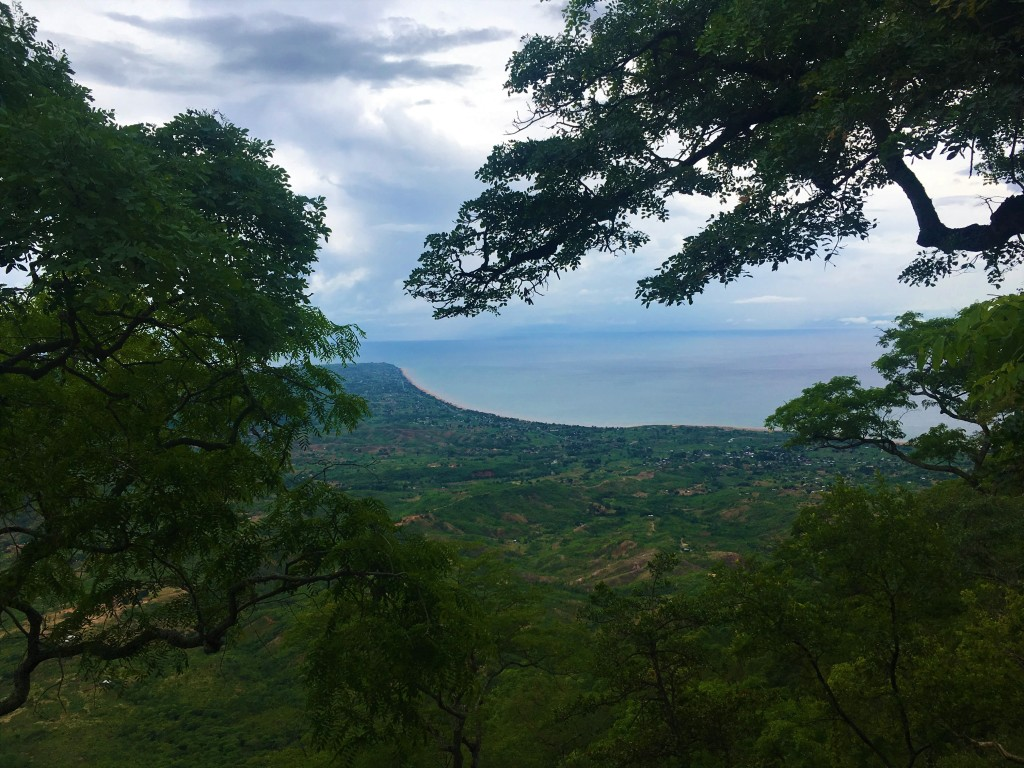 A view of the Great Rift Valley and Lake Malawi from atop the Mushroom Farm in Malawi.